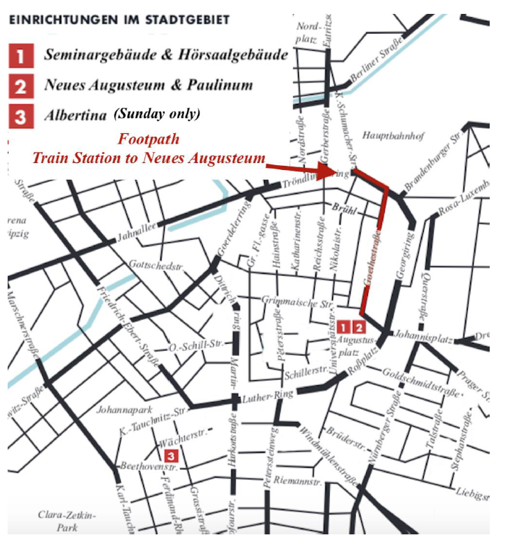 Leipzig Map of Conference Location
